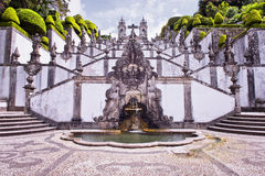 Bom Jesus do Monte. Is a Portuguese sanctuary in Tenões, outside the city of Braga, in northern Portugal Stock Photography