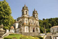 Bom Jesus do Monte, Braga. Cathedral of Bom Jesus do Monte in Braga, Portugal Stock Images
