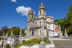 Bom jesus do Monte church in Braga Stock Images