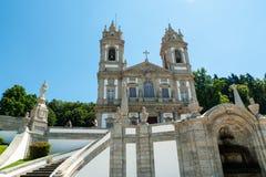 Bom Jesus do Monte is een Portugees heiligdom in Tenões, buiten de stad van Braga, in noordelijk Portugal royalty-vrije stock afbeeldingen
