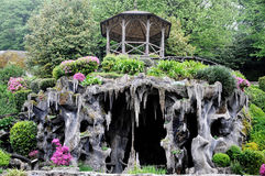 Bom Jesus do Monte garden. Garden with cave at Bom Jesus do Monte is a Portuguese sanctuary in Tenões, outside the city of Braga, in northern Portugal. Its name Stock Photos