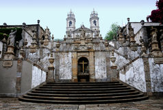 Bom Jesus do Monte. Is a Portuguese sanctuary in Tenões, outside the city of Braga, in northern Portugal. Its name means Good Jesus of the Mount Royalty Free Stock Photography