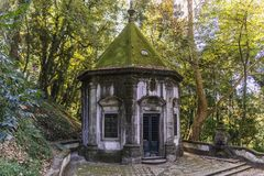 Bom Jesus do Monte sanctuary. Chapel of Way of Cross in famous sanctuary Bom Jesus do Monte near Braga in historical Minho Province, Portugal Stock Photography