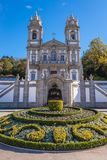 Bom Jesus do Monte sanctuary. Famous sanctuary Bom Jesus do Monte near Braga city in historical Minho Province, Portugal Royalty Free Stock Image