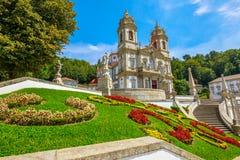 Bom Jesus doet Monte Braga royalty-vrije stock foto's