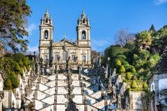 Bom Jesus faz o monastério de Monte, Braga, Portugal fotos de stock royalty free