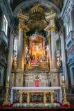 Bom Jesus gör Monte Church Interior Arkivfoton