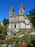 Bom Jesus gör Monte i Braga, Portugal Arkivbild