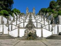 Bom Jesus gör Monte i Braga, Portugal Royaltyfri Bild