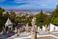 Bom Jesus kyrka i Braga - Portugal arkivbilder