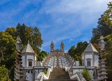 Bom Jesus kyrka i Braga - Portugal royaltyfri foto