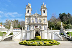 Bom jesus sanctuary. Churchyard of the bom jesus sanctuary Stock Photo