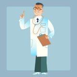Bom médico do doutor em um revestimento branco Fotos de Stock Royalty Free