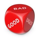 Bom, mau ou feio? Imagens de Stock