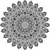 Bom preto e branco do teste padrão da mandala foto de stock royalty free