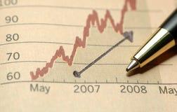Bom progresso no negócio Fotografia de Stock
