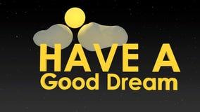 Bom sonho video estoque