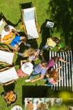 Bom tempo no BBQ fotografia de stock royalty free