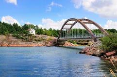 Bomarsund, Aland,芬兰桥梁  库存图片