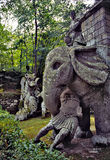 Bomarzo. Monster' s statue in bomarzo, italy Royalty Free Stock Images