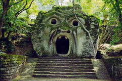 Bomarzo. Monster' s statue in bomarzo, italy Stock Image