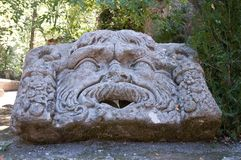 Bomarzo face. Bomarzo Lazio Italy the park of monsters face Stock Images