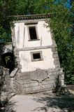 Bomarzo the leaning house. Bomarzo Lazio Italy the park of monsters the leaning house Royalty Free Stock Photos