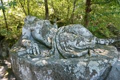 Bomarzo monster. Bomarzo Lazio Italy the park of monsters monster Stock Photography