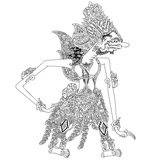 Bomawikata. A character of traditional puppet show, wayang kulit from java indonesia vector illustration