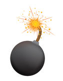Bomb. Vector bomb isolated on the white Stock Image