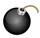 Bomb. Vector illustration of bomb - isolated stock illustration