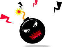 Bomb. Illustration face of dangerous bomb cartoon character Royalty Free Stock Images