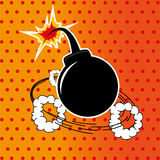 Bomb. Design over dotted  background vector illustration Royalty Free Stock Image