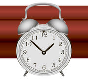 Bomb with alarm clock detonator Stock Photo