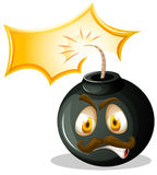 Bomb with angry face Stock Photography
