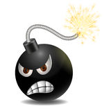 Bomb. Angry bomb going to exploade Royalty Free Stock Photography