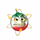 The Bomb - Atomic Iran. Iranian emoticon atomic bomb symbol Royalty Free Stock Photography