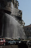 Bomb Attacks on the HSBC Bank Royalty Free Stock Photos