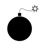 Bomb black color icon . Bomb it is black color icon Stock Photo