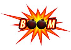 Bomb and bomb logo. Vector art illustration Stock Photography