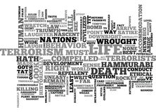 A Bomb For A Bomb And A Rocket For A Rocket What Hath Terrorism Wrought But A New Code Of Hammurabi Word Cloud Royalty Free Stock Photo