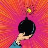 Bomb burning fuse war terrorism Stock Photo
