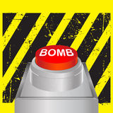 Bomb button Stock Photography