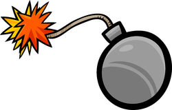 Bomb clip art cartoon illustration Stock Photos