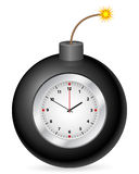 Bomb with clock. On a white background Stock Images