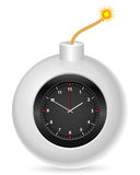 Bomb with clock. On a white background Stock Photo