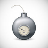 Bomb with clock. Stock Photo
