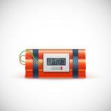 Bomb with clock. Royalty Free Stock Photo