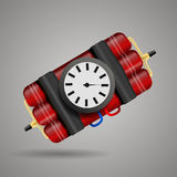 Bomb with clock timer   illustration eps 10 Stock Photo