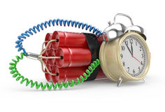 Bomb with clock timer Stock Images